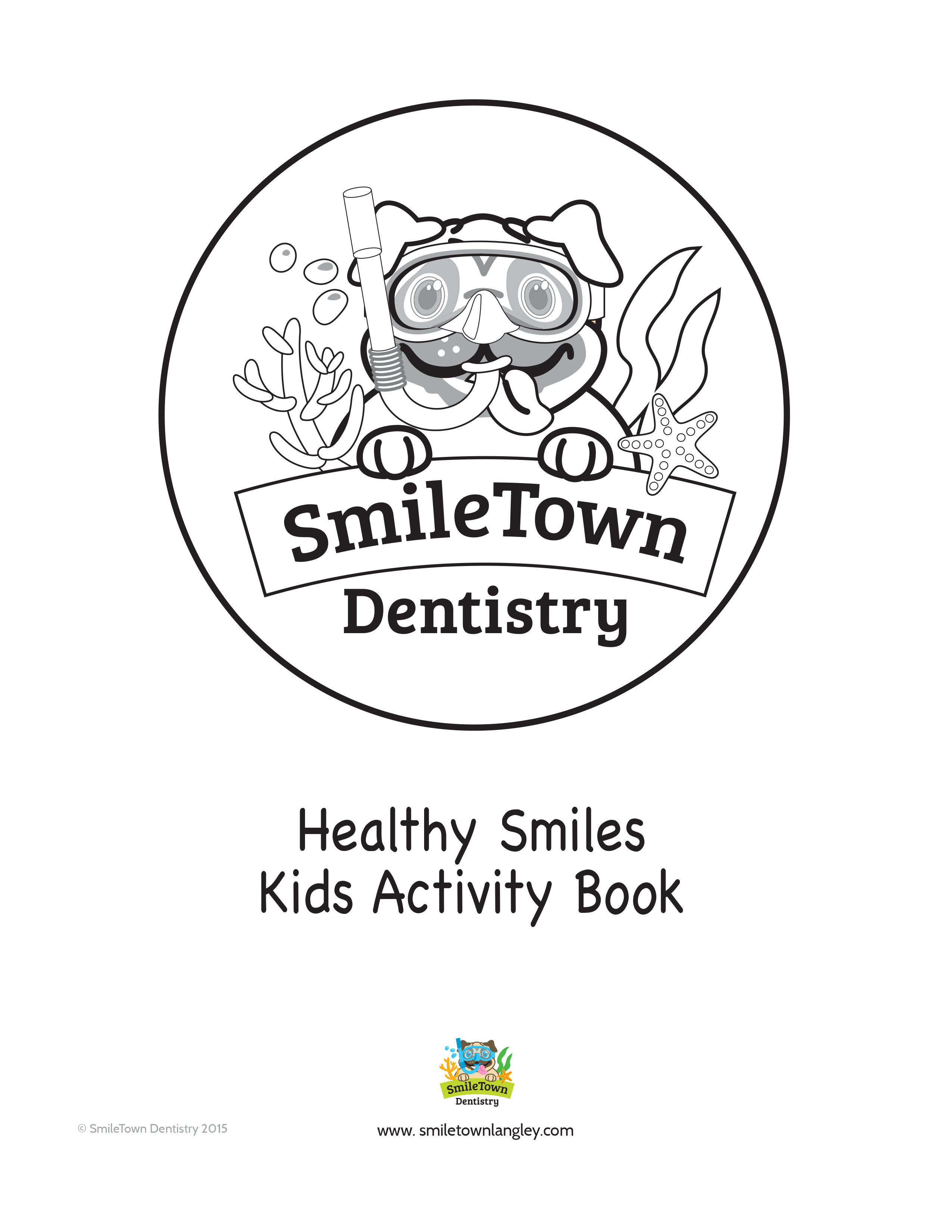 Smile Town Langley Dentist Activity Book