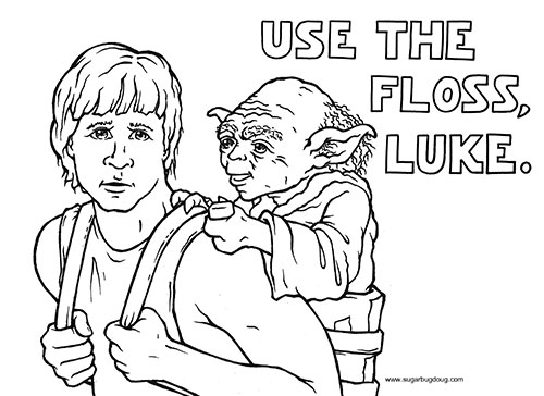 Use the Floss Luke, Dentist Langley